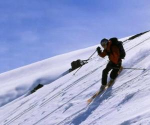 Puzzle Le ski de télémark est une technique qui est né en 1825, considéré comme le père du ski moderne