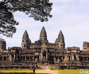 Puzzle Le Temple Angkor Vat, Cambodge