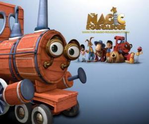 Puzzle Le train, l'un des jouets magiques dans le le film Pollux, le manège enchanté