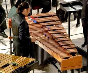 Puzzle Le vibraphone est un instrument de musique, de la famille des instruments de percussion