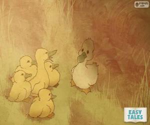 Puzzle Le vilain petit canard se sent différent de ses frères