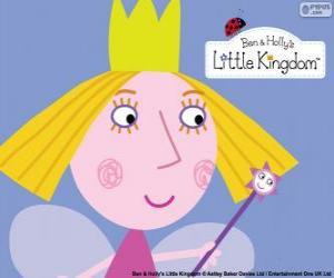 Puzzle Le visage de la petite fée, la princesse de Holly avec sa couronne