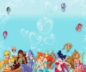 Puzzle Le Winx Club rassemble ses mini-fées