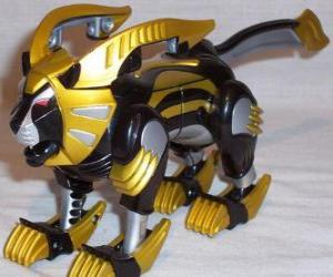 Puzzle Le Zord Lion, Power Ranger Jaune. Ninja Power Rangers