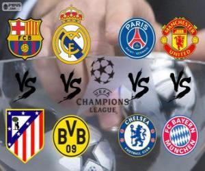 Puzzle League des Champions - UEFA Champions League 2013-14 Quarts de finale