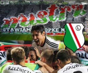 Puzzle Legia Varsovie, champion de la ligue polonaise de football Ekstraklasa 2013-2014