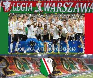 Puzzle Legia Varsovie, champion Ekstraklasa 2012-2013, Ligue de Football de la Pologne