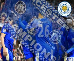 Puzzle Leicester City,champion 2015-2016