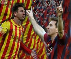 Puzzle Leo Messi, meilleur buteur de l'histoire du FC Barcelone