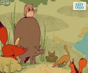 Puzzle Les animaux de la forêt décident le cheminement de carrière