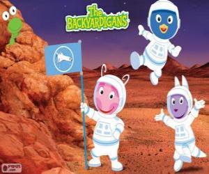 Puzzle Les astronautes Backyardigans sont arrivés à Mars
