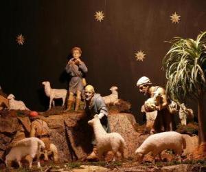 Puzzle Les bergers des personnages de la Nativité