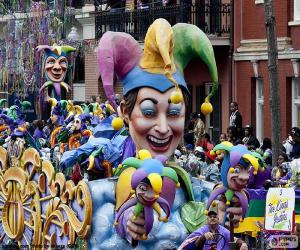 Puzzle Les bouffons, Carnaval