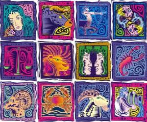 Puzzle Les douze signes du zodiaque