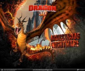 Puzzle Les dragons gigantesques Cauchemar Monstrueux peut attaquer n'importe quelle heure du jour ou de nuit, de l'air ou le sol