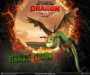 Puzzle Les dragons les plus faibles sont les Terrible Terreur , on les retrouve habituellement dans les troupeaux
