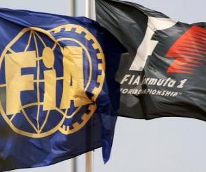 Puzzle Les drapeaux de la Fédération internationale de l'automobile