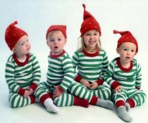Puzzle Les enfants déguisés pour Noël