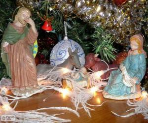 Puzzle Les figurines de la Crèche de Noël