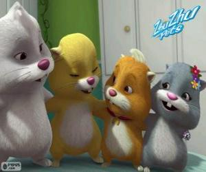 Puzzle Les hamsters de Zhu Zhu Pets