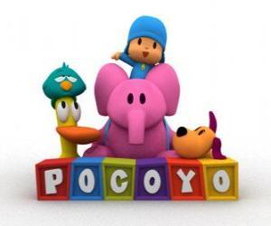 Puzzle Les meilleurs amis de Pocoyo sont Pato, Elly, Loula et Dodoloiseau