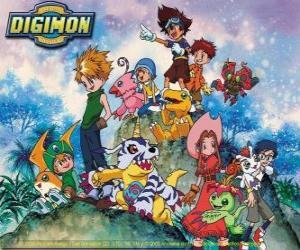 Puzzle Les personnages Digimon