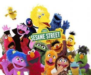 Puzzle Les personnages principaux de Sesame Street