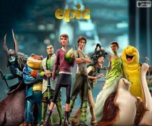 Puzzle Les personnages principaux du film Epic. La Bataille du royaume secret