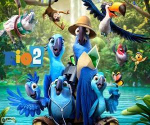 Puzzle Les personnages principaux du film Rio 2