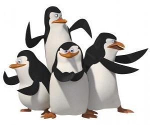 Puzzle Les pingouins, Skipper, Kowalski, Rico et privées.