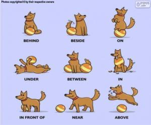 Puzzle Les prépositions de la place en anglais
