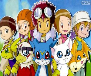 Puzzle Les protagonistes de Digimon