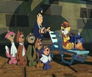 Puzzle Les protagonistes du film Le Pacha - Top Cat