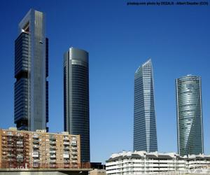 Puzzle Les quatre tours de Madrid