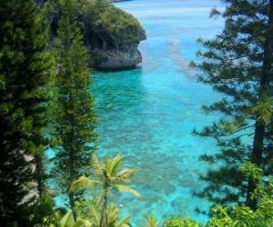 Puzzle Les récifs et les écosystèmes, l'archipel français de Nouvelle-Calédonie, située dans l'océan Pacifique.