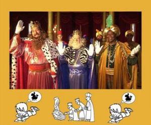 Puzzle Les Rois Mages, Gaspard, Melchior et Balthazar