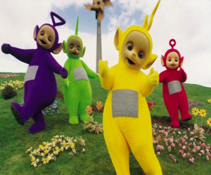 Puzzle Les Télétubbies: Laa-Laa, Tinky Winky, Po et Dipsy