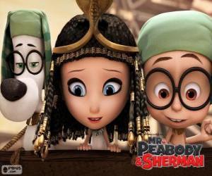 Puzzle Les trois protagonistes du film Mr. Peabody et Sherman