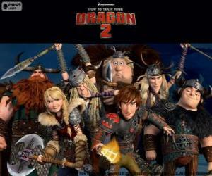 Puzzle Les Vikings jeunes de Dragons 2