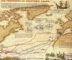 Puzzle Les voyages de Colomb
