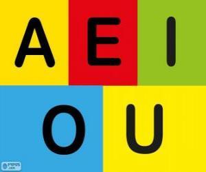 Puzzle Les voyelles A, E, I, O, U