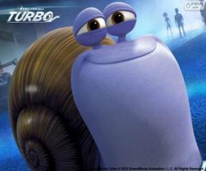 Puzzle L'escargot Chet, le frère de Turbo