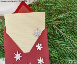 Puzzle Lettre au Père Noel