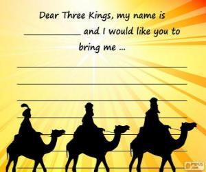 Puzzle Lettre aux Mages rois