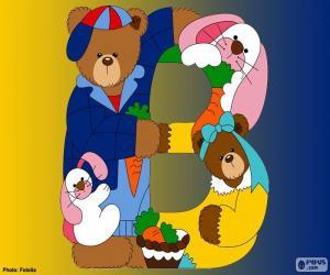 Puzzle Lettre B d'ours