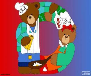 Puzzle Lettre D d'ours