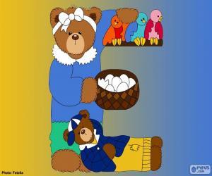 Puzzle Lettre E d'ours