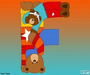 Puzzle Lettre F de l'ours