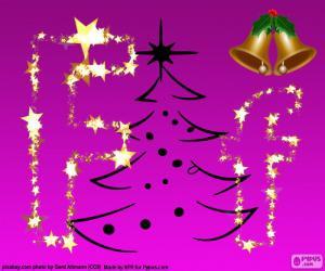 Puzzle Lettre F pour Noël