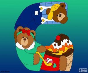 Puzzle Lettre G d'ours